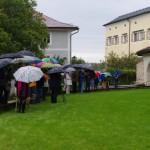 tapfere Gäste trotzen dem Regen